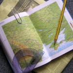 Photograph of an open map, accompanying the FROM HUMBLE ORIGINS' specialised offerings webpage around Places. We can enrich your knowledge of your historical family and the places where they lived to create a unique record of your heritage and personal experiences of walking in their footsteps.
