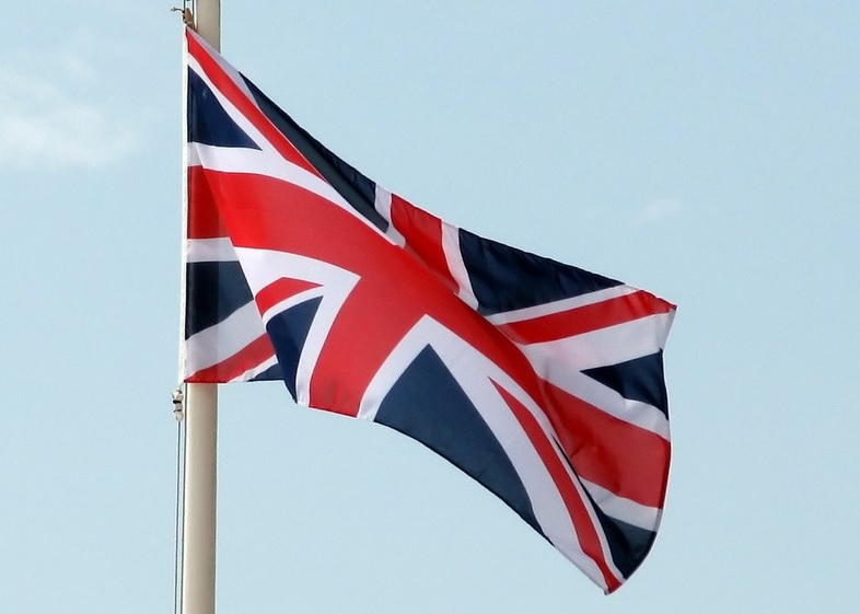 """Photograph of the British Union Jack flying accompanying the FHOLOGUE blog post """"Rather British Heritage"""" published by FROM HUMBLE ORIGINS. Image copyright www.freeimages.com / Chris Chidsey."""