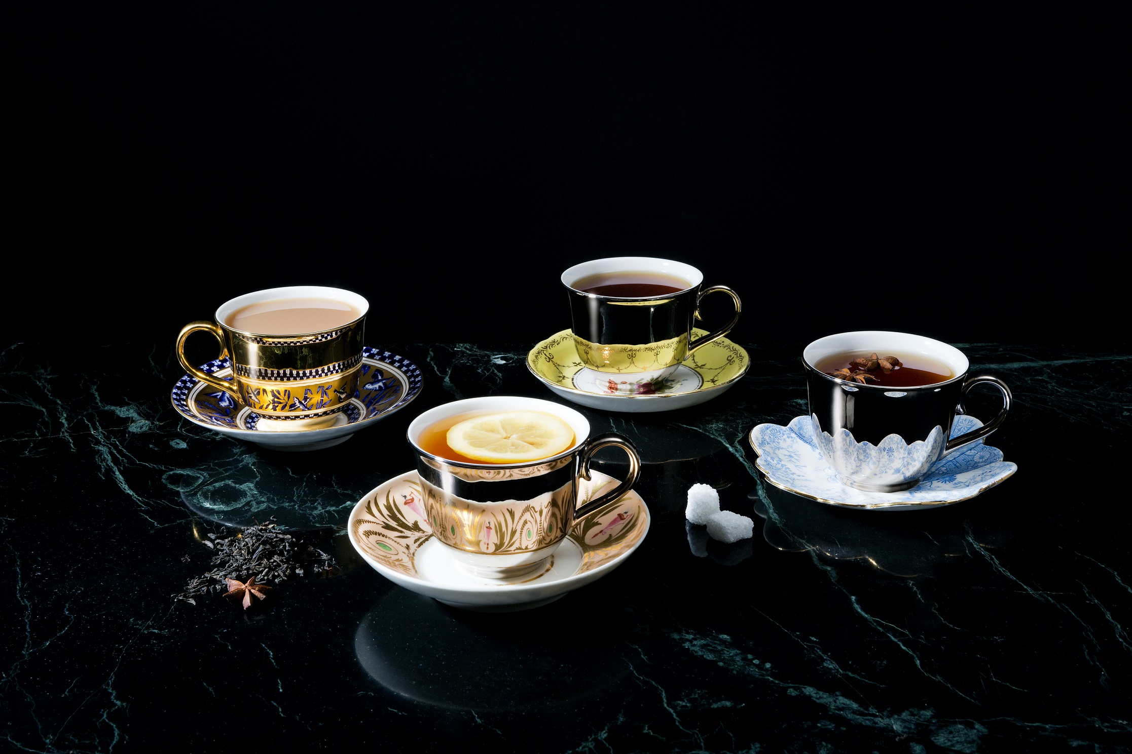 """A photograph of Richard Brendon's Reflect range of tea cups and saucers, accompanying an interview with Richard about the role of heritage in his craftsmanship. Illustrating the FHOLOGUE blog post """"Rather British Heritage"""". Image copyright http://www.richardbrendon.com."""