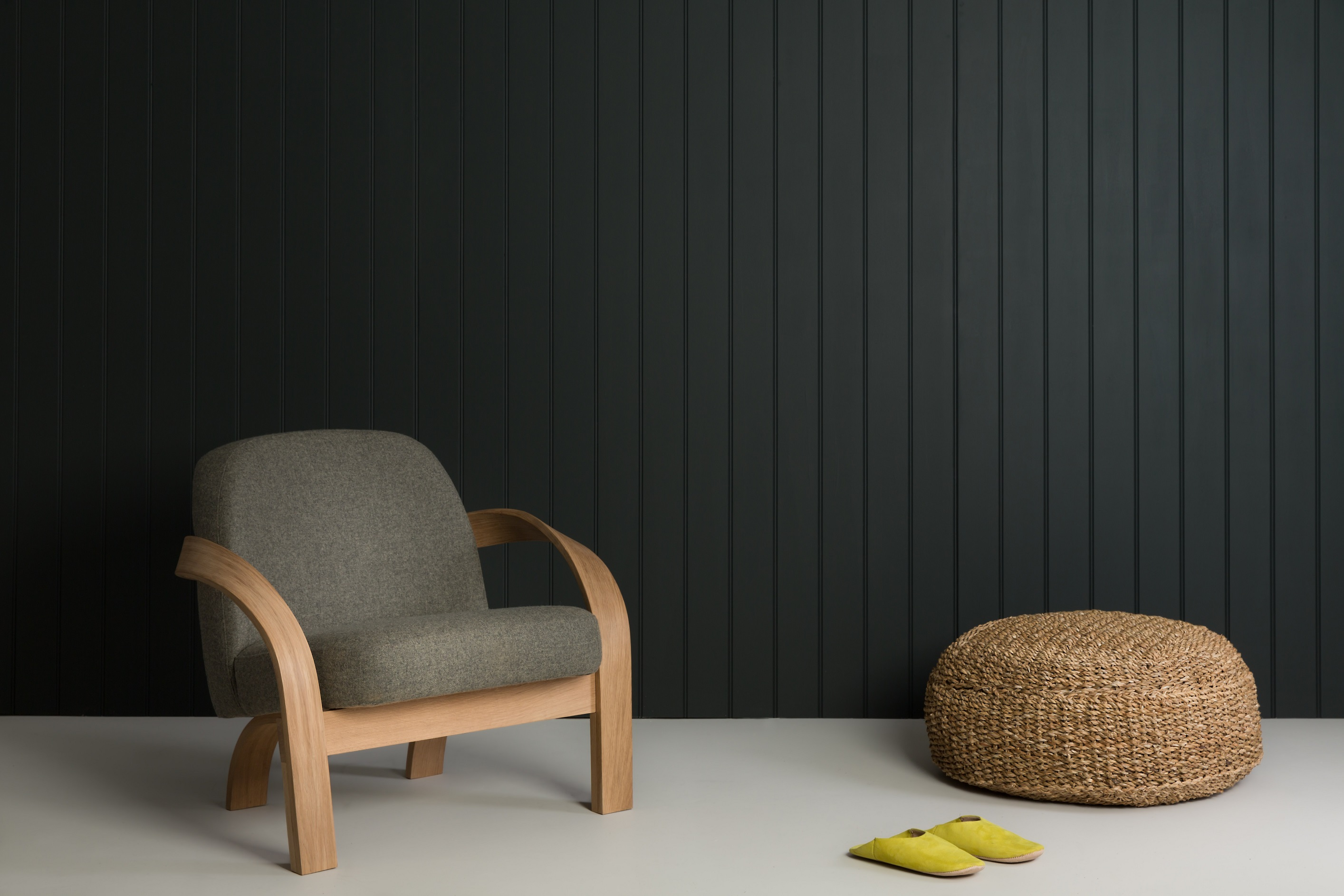 """A photograph of Tom Raffield's ARBOR CHAIR accompanying an interview with Tom about the role of heritage in his craftsmanship. Illustrating the FHOLOGUE blog post """"Rather British Heritage"""". Image copyright http://www.tomraffield.com."""
